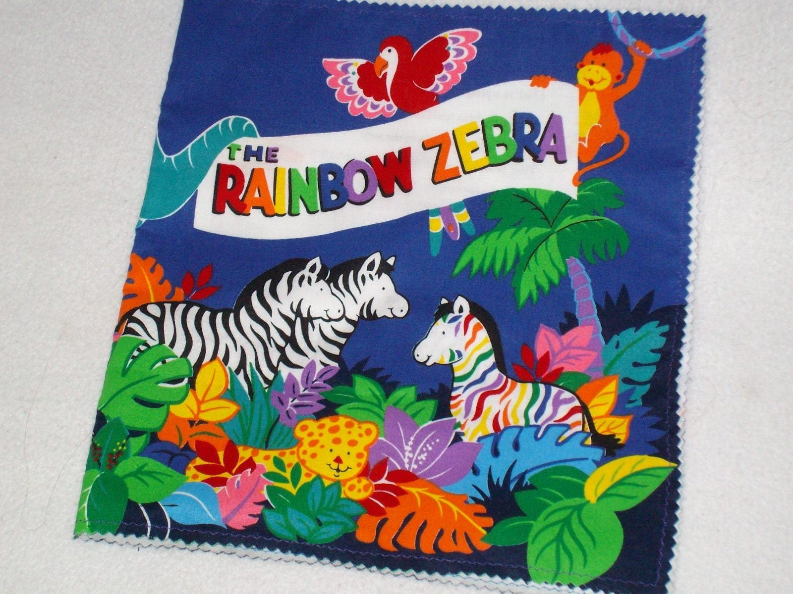 Rainbow Book Cover Material : The rainbow zebra fabric book free shipping