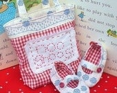 PDF email sewing MARY JANE BABY SHOES and GIFT TOTE pattern