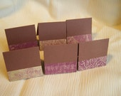 Brown and Purple Mini Cards or Tags 2x2 (6)