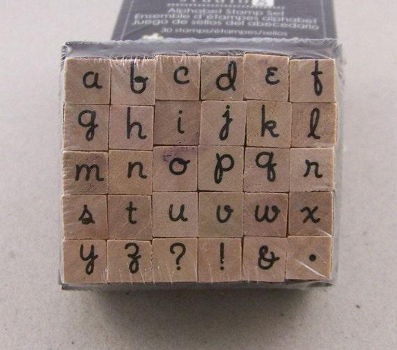 Alphabet stamp set by Studio G.