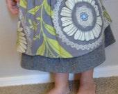 Grey Lacework and Wool Petti-Skirt 3T
