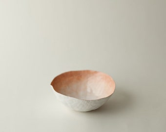 Small Peach Paper Bowl
