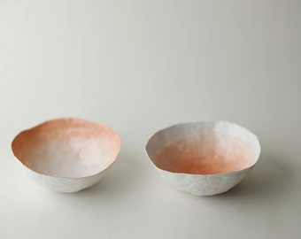 Small Peach Fade Bowl Set