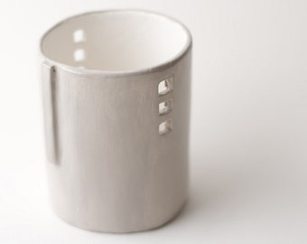 Light Gray Silo Votive