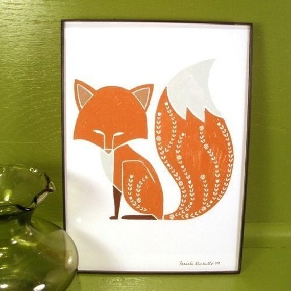 Foxy Fox - 5x7 Art Print - Unframed