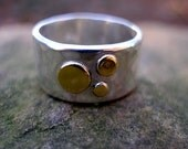Constellation Organic Band in Sterling and Gold Reserved for seashelley