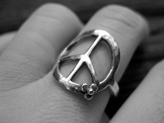 Peace Ring Handcrafted in Sterling With Carnelian Reserved for Tina