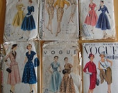14 vintage 40s 50s patterns VOGUE SIMPLICITY McCALL'S BUTTERICK