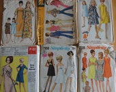 22 vintage 60s vintage patterns  SIMPLICITY McCALL'S BUTTERICK
