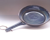 Wheel Thrown Stoneware Clay Skillet with Handle