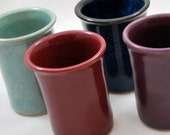 Colorful Stoneware Clay Tumblers Free Shipping