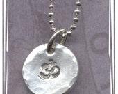 Fine Silver Ohm Charm