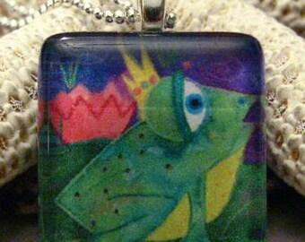 Frog Glass Designer Pendant