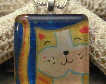 Cat Glass Designer Pendant