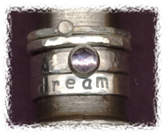 SINGLE RING - Sterling Word Stacking Ring