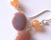 Tropical Smoothie Earrings - Aventurine, Jasper and Sterling Silver