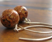 Sienna Earrings - Fossil and Sterling Silver