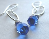 Dianna Earrings in Sapphire Blue - Swarovski Crystal and Sterling Silver
