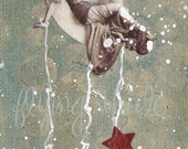 SALE  OOAK - Drip the Stars - ORIGINAL affordable art
