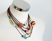 Summer multilayer statement light necklace