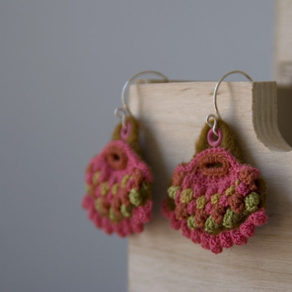 crochet and sterling silver earrings - nO.429
