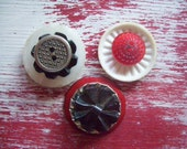 Funky button magnets - set of 3