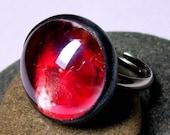 FORBIDDEN ROMANCE Glass Art Ring