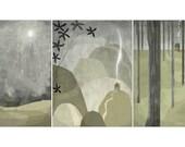 Nuit Set of 3 prints