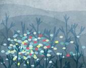 marin - fishes -  Children Wall Art - digital Illustration - Nursery Art Print - Baby Wall Decor - Poster for Kids Room - Boy - Sea - Blue