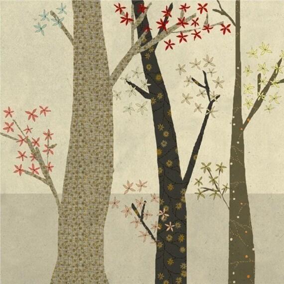la foret 1 - Art - Illustration -  Children Wall Decor - Nursery Art Print - Poster for Kids Room - Forest - Trees