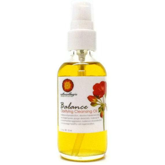 Clear Skin Balancing Cleansing Oil - Cleansing Oil, Pre Cleanse, Double Cleanse, Oil Cleansing Method. Natural Organic Skin Care. Vegan.