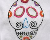 La Calaverita - Sugar Skull - Long-sleeve onesie 6-9M