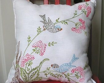 spring birds - pillow