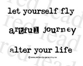 Rubber Stamp Let Yourself Fly