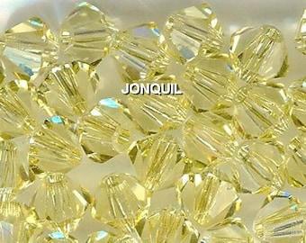 Genuine Swarovski Bicone Beads - 5301 4mm Jonquil - 24pc