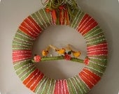 Three Sister Birds Yarn Wreath SALE