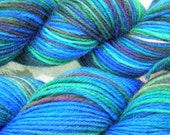 Wool\/nylon superwash sock yarn - Stained Glass