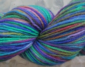 Wool\/nylon superwash sock yarn - Tropical Flowers I
