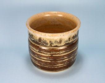 Coffee and Cream Stoneware Pot, 50% Off