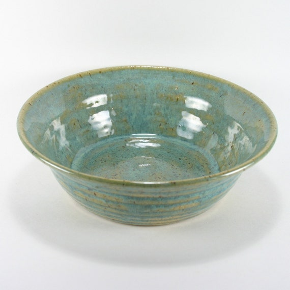 Turquoise Blue Stoneware Bowl, 24 Ounces, 50% Off Sale