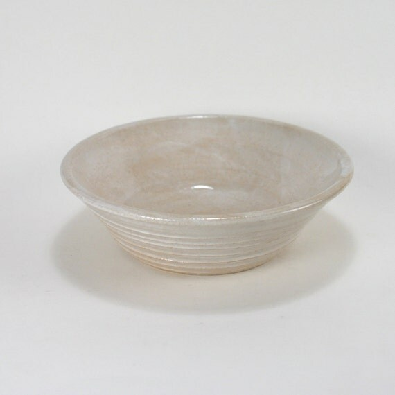 Whitewashed Stoneware Dipping Bowl, 4 Ounces