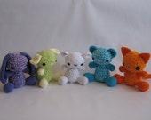 Crocheted Fluffy Friends PDF Pattern