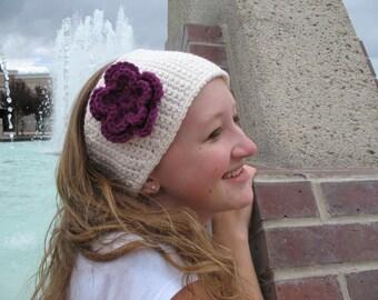 Crocheted Earwarmer Headband PDF Pattern