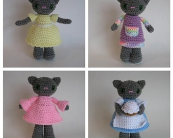 Dress-Up Kitty PDF Pattern