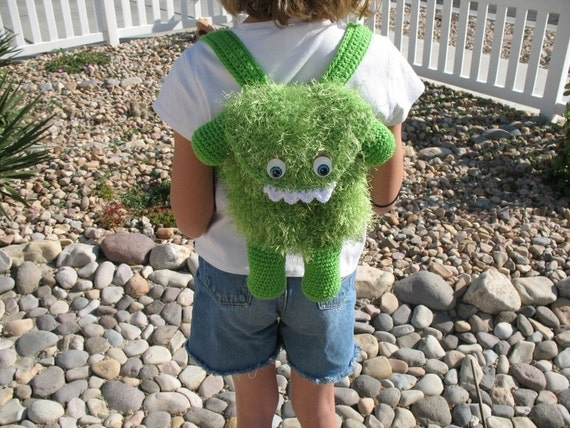 Crocheted Furry Monster Bag Pattern