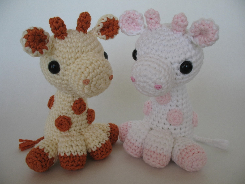 Crochet Giraffe : Crocheted Baby Giraffe PDF Pattern by djonesgirlz on Etsy