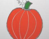 Pumpkin Suncatcher Stained Glass Ornament for Fall