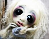 Loopy OOAK Art Doll Giclee Goth Art Print