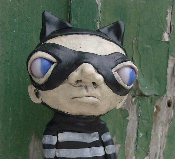 Katie The Kitty Girl Superhero Loopy Art Doll