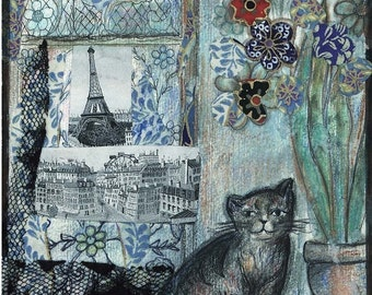 Paris Cat card